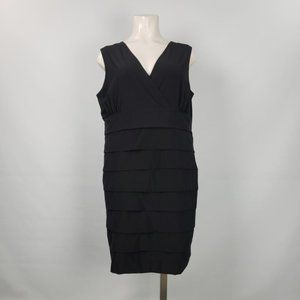 Penigtons Black Layered Dress Size 3XL
